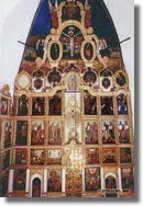 The iconostasis of the Ascension church.